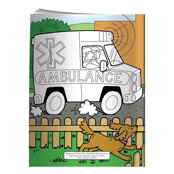 EMTs and Emergencies Coloring & Activity Book
