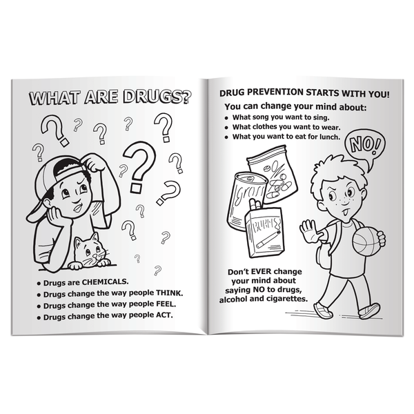 Smart Kids Say No to Drugs Coloring & Activity Book