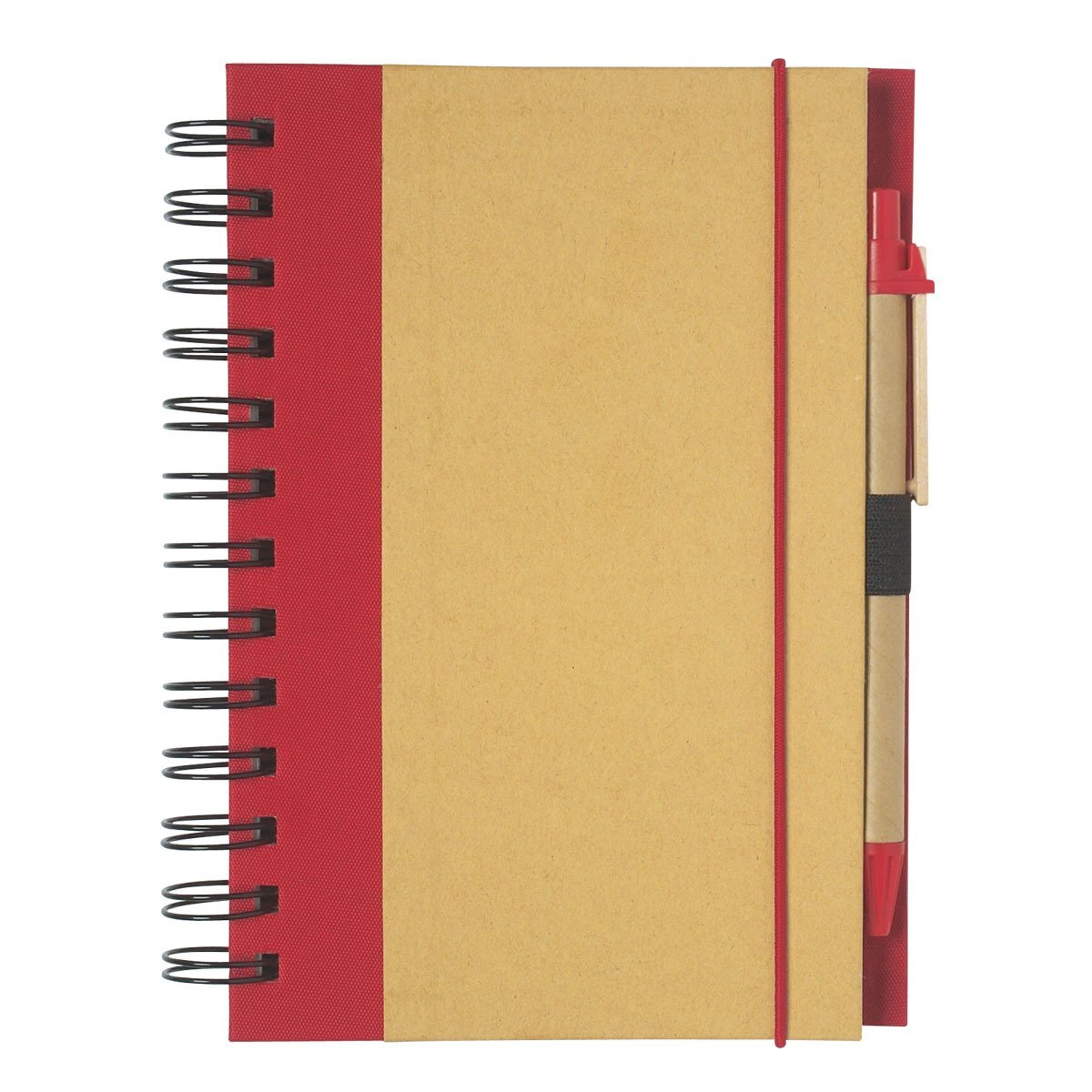 "Eco-Friendly Spiral Notebook & Pen, 5-1/2"" x 7"""