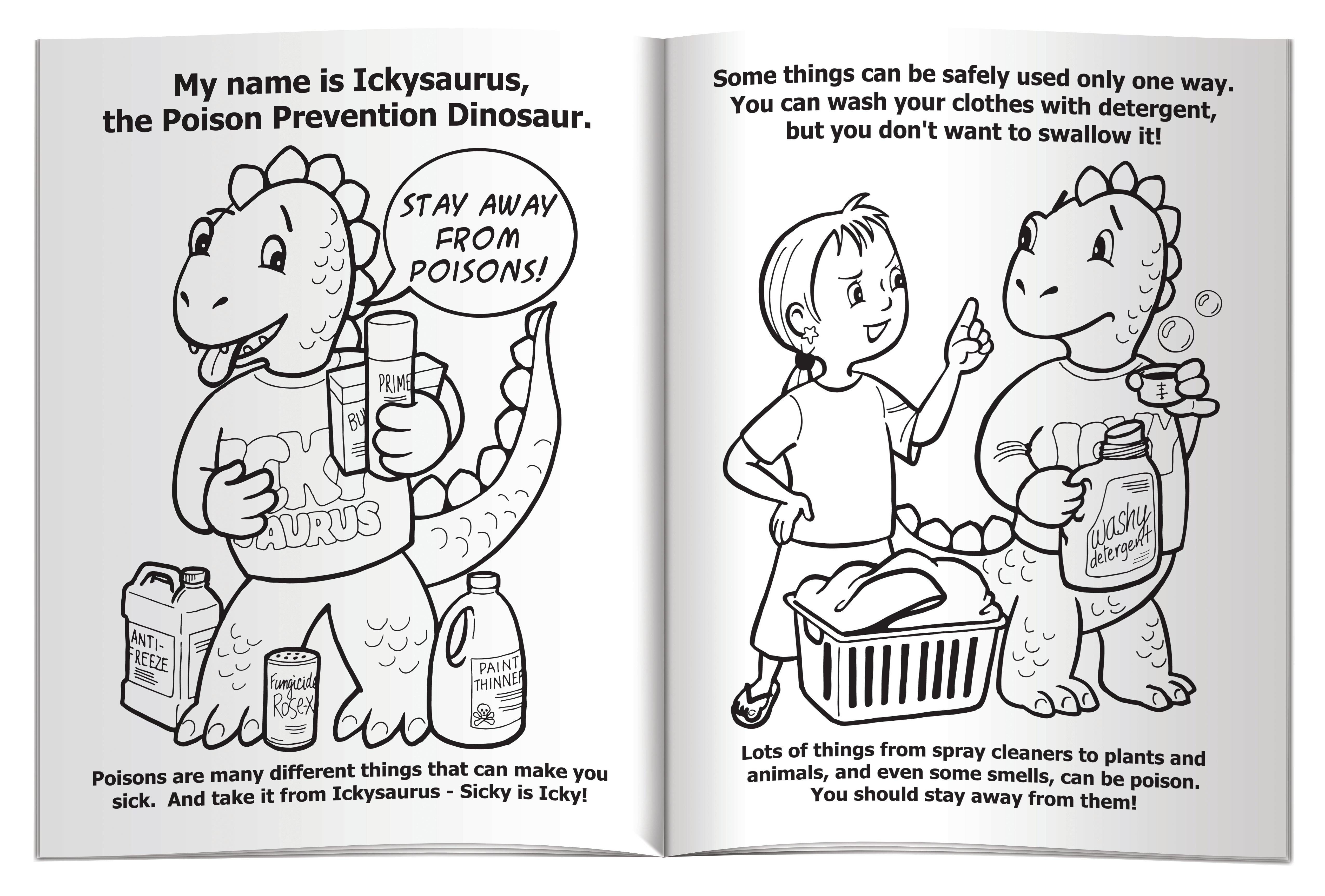 The Poison Prevention Dinosaur Coloring & Activity Book