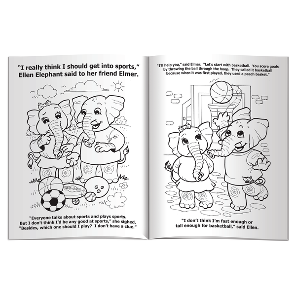 Sports are Fun Coloring & Activity Book