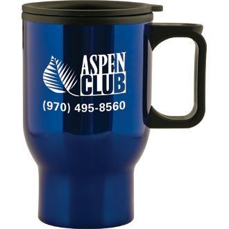 Aspen Stainless Travel Mug, 15oz., BPA Free
