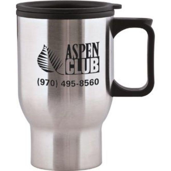 Aspen Stainless Travel Mug, 15oz., BPA Free
