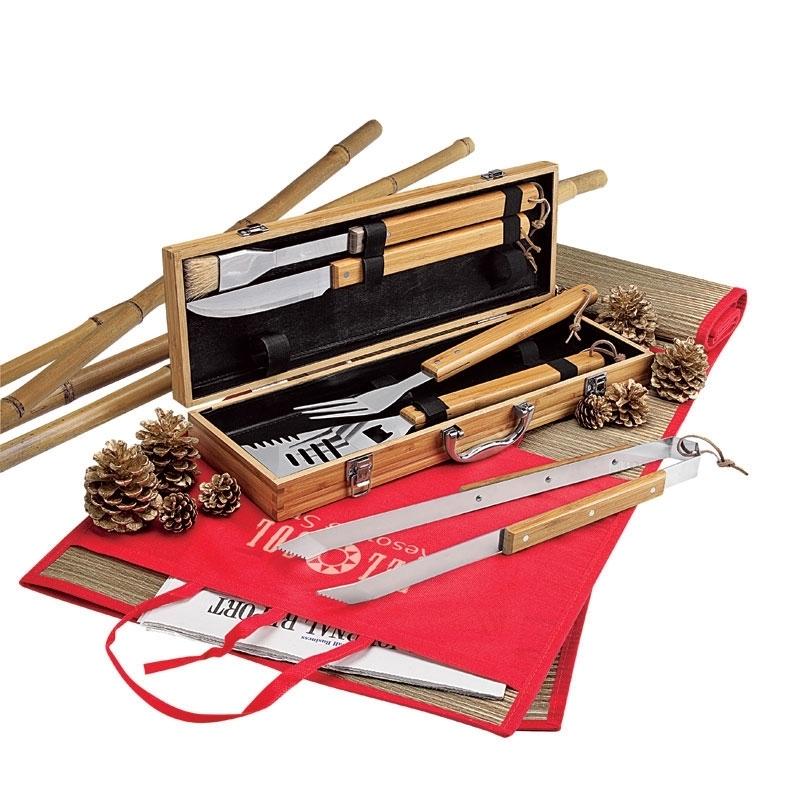 Five Piece Bamboo BBQ Set