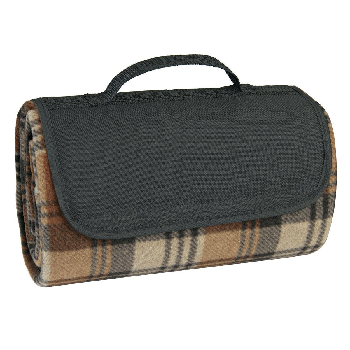 "Roll-Up Plaid Picnic Blanket, 52"" x 47"""