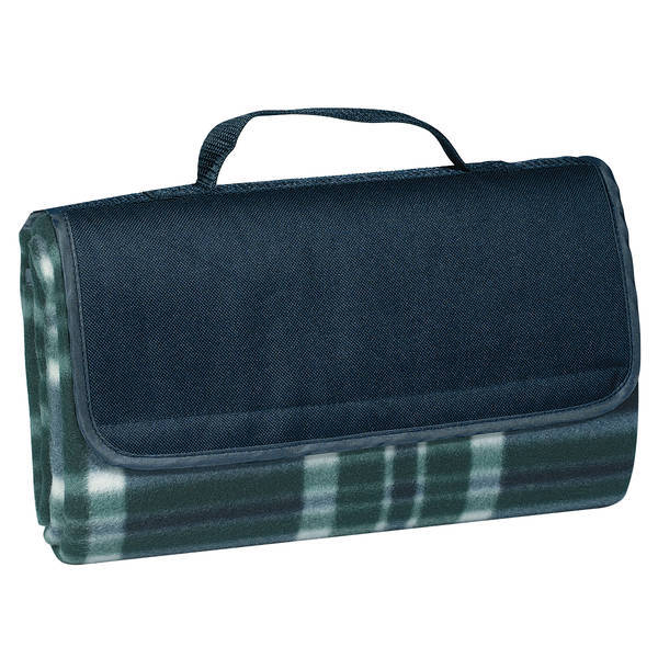 "Roll-Up Plaid Picnic Blanket, 52"" x 47"""
