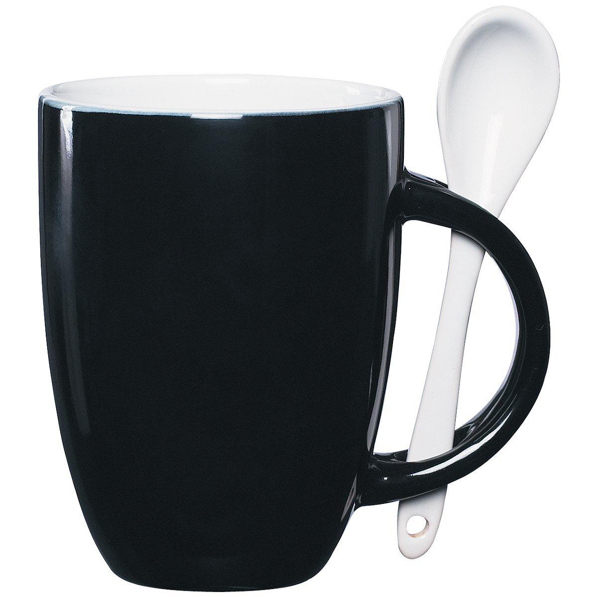 Ceramic Mug & Spoon Set, 12oz.