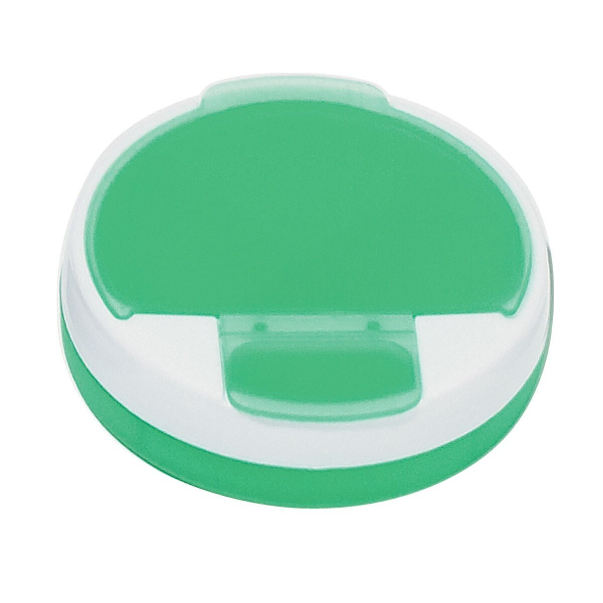 Round Travel Pill Box, Four Compartment