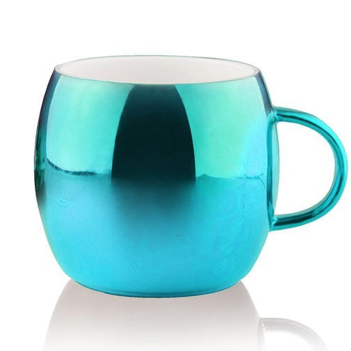 Shiny Ornament Ceramic Mug, 14oz.
