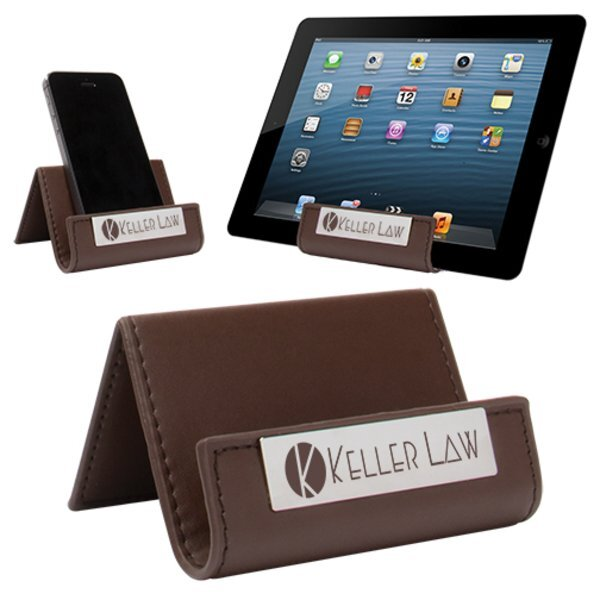 Leatherette Cell Phone & Tablet Stand
