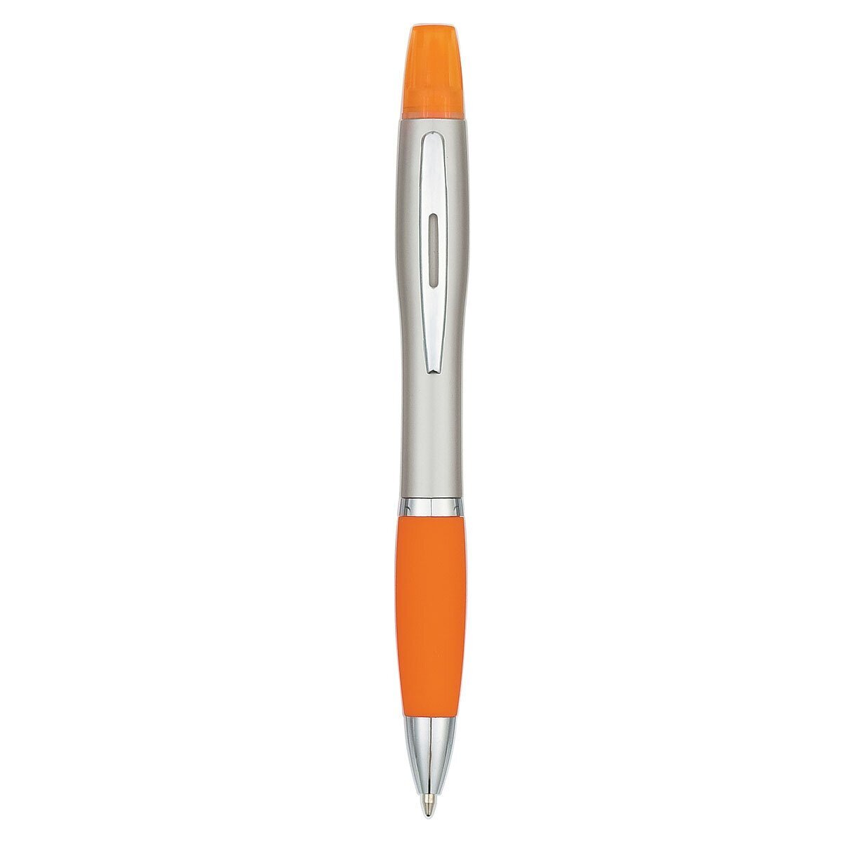 Twin Write Highlighter - Silver Barrel
