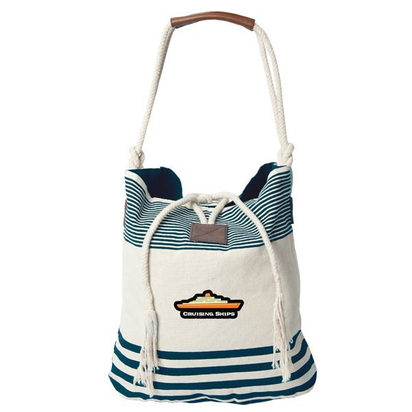 Catamaran Striped Cotton Tote