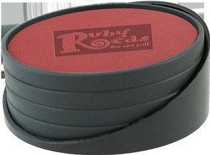 Regency 4 Piece Leatherette Coaster Set