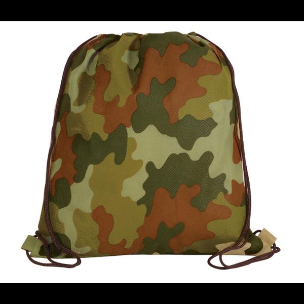 Camo Non-Woven Drawstring Backpack