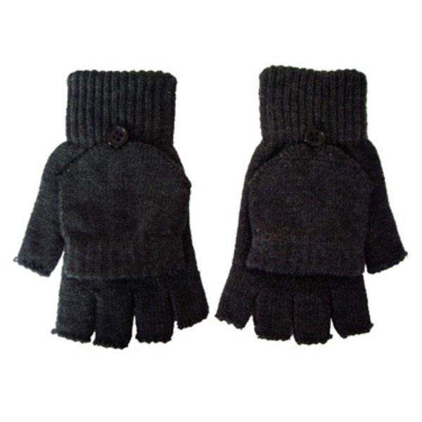 Fingerless Acrylic Gloves with Flap