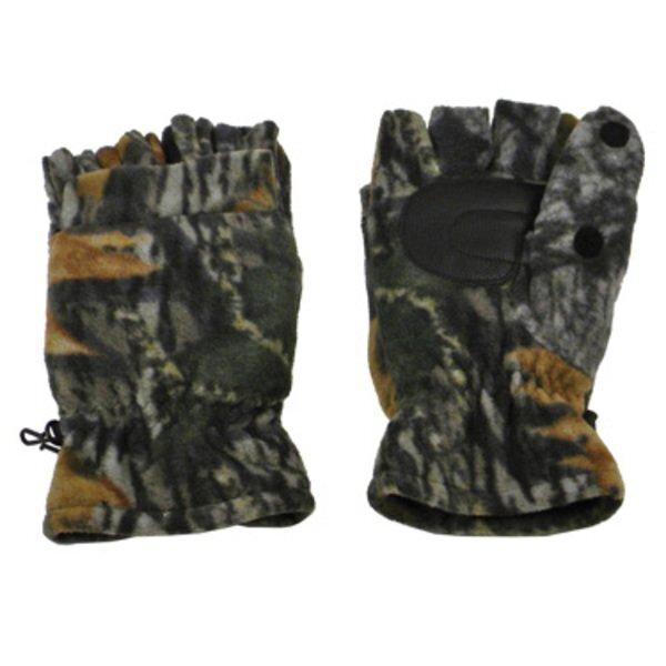 Fingerless Fleece Gloves with Flap