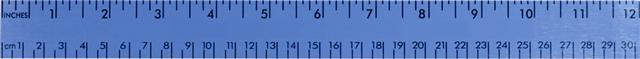 """Enamel Wood Ruler with Both Scales, 12"""""""