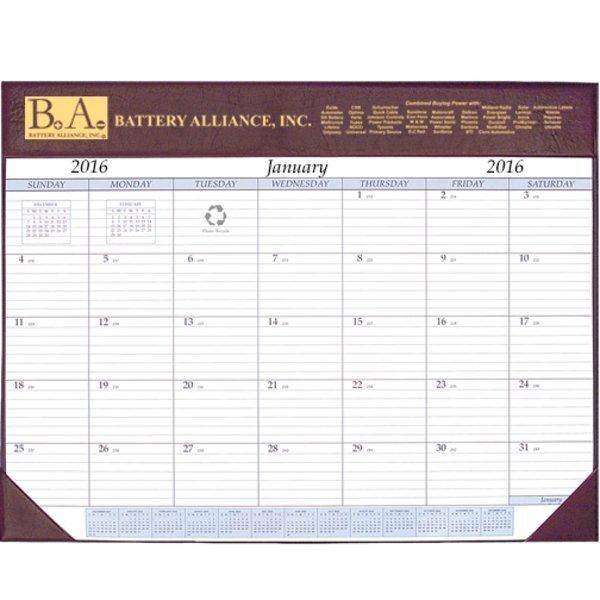 """Deluxe Desk Pad Calendar, 17"""" x 22"""""""