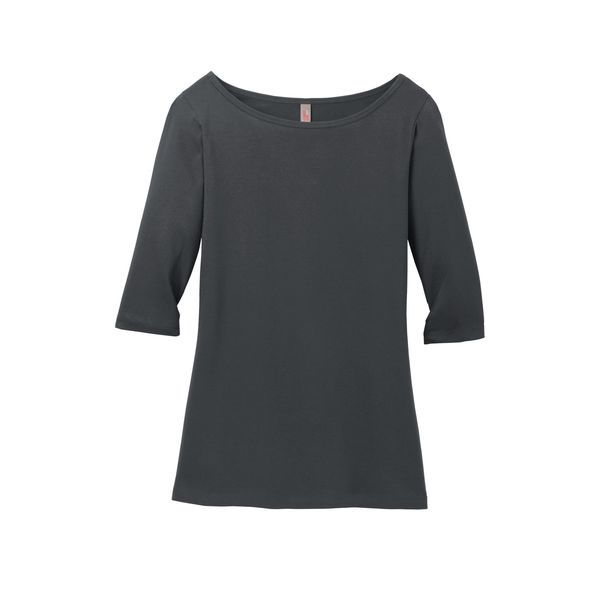 District Made® Perfect Weight® Ladies' 3/4-Sleeve Tee