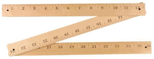 Natural Finish Folding Yardstick