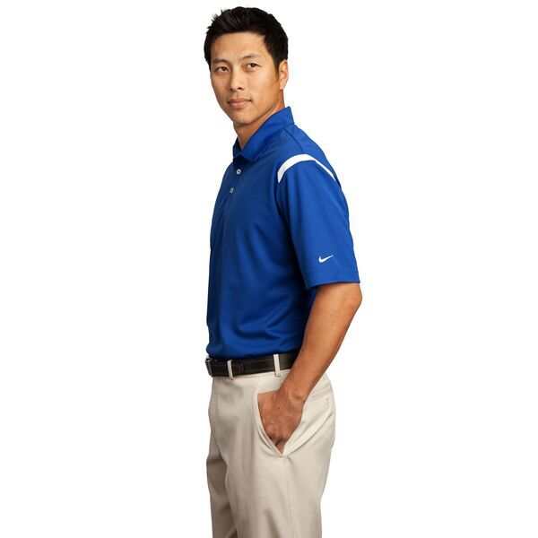 NIKE® Golf Dri-FIT Shoulder Stripe Men's Sport Shirt