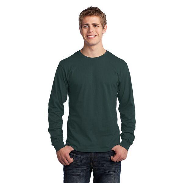 Port & Company® 100% Cotton Long Sleeve Men's Tee