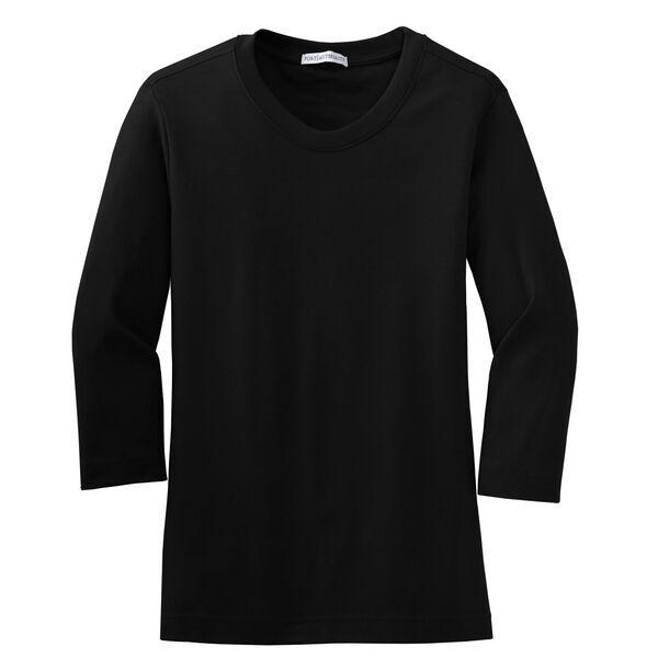 Port Authority® Modern Stretch Cotton 3/4-Sleeve Scoop Neck Ladies' Tee