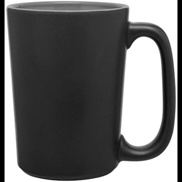 Stride Black Stoneware Mug, 16oz. - Black