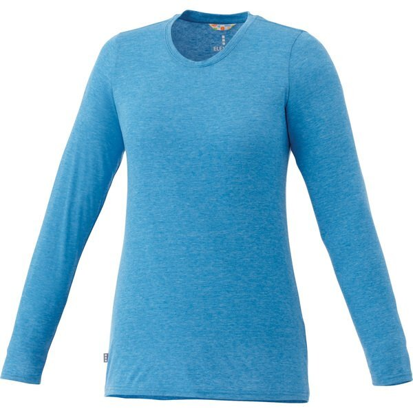 Holt Ladies' Long Sleeve Cross Dyed Jersey Tee, Full Color