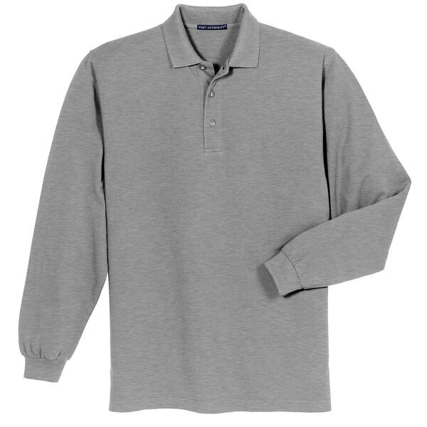 Port Authority® Cotton Pique Knit Men's Long Sleeve Polo