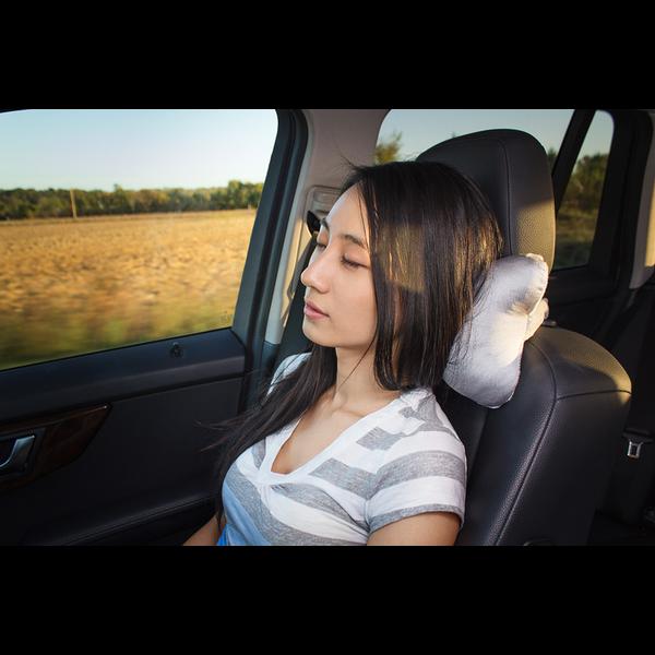 Gray Car Neck Rest Pillow