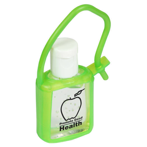 Cool Clip Hand Sanitizer Gel in Silcone Carrier, .5oz.
