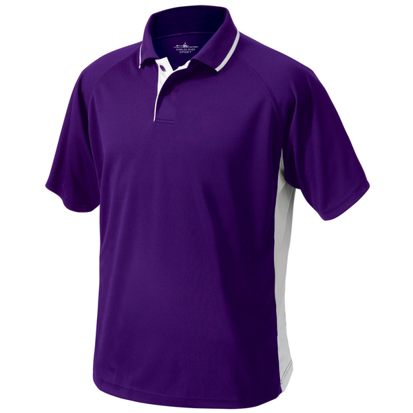Charles River® Color Blocked Piqué Men's Wicking Polo