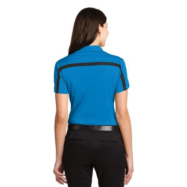 Port Authority® Silk Touch™ Performance Colorblock Stripe Ladies' Polo