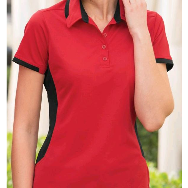 Port Authority® Dry Zone® Colorblock Ottoman Ladies' Performance Polo