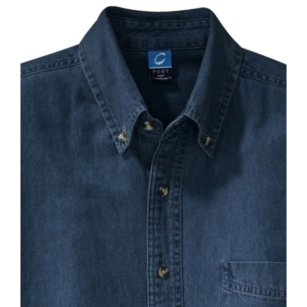 Port & Company® Value Denim Men's Short Sleeve Shirt