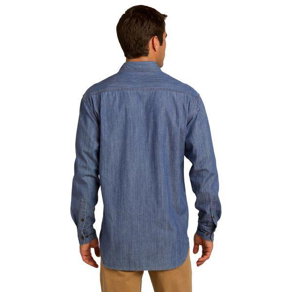 Port Authority® Patch Pockets Denim Men's Shirt