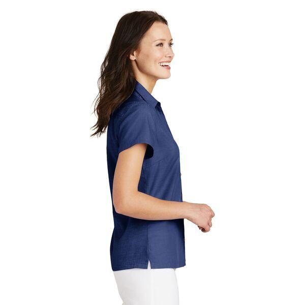 Port Authority® Textured Ladies' Short Sleeve Camp Shirt