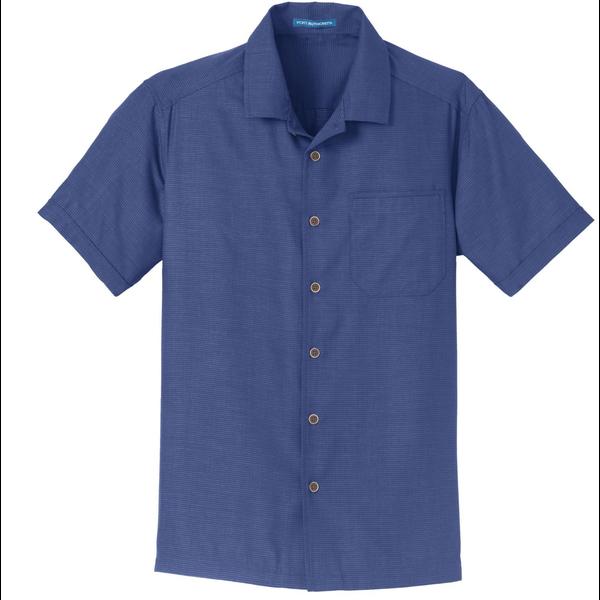 Port Authority® Textured Men's Short Sleeve Camp Shirt