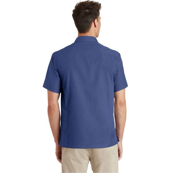 Port Authority® Textured Men's Short Sleeve Camp Shirt