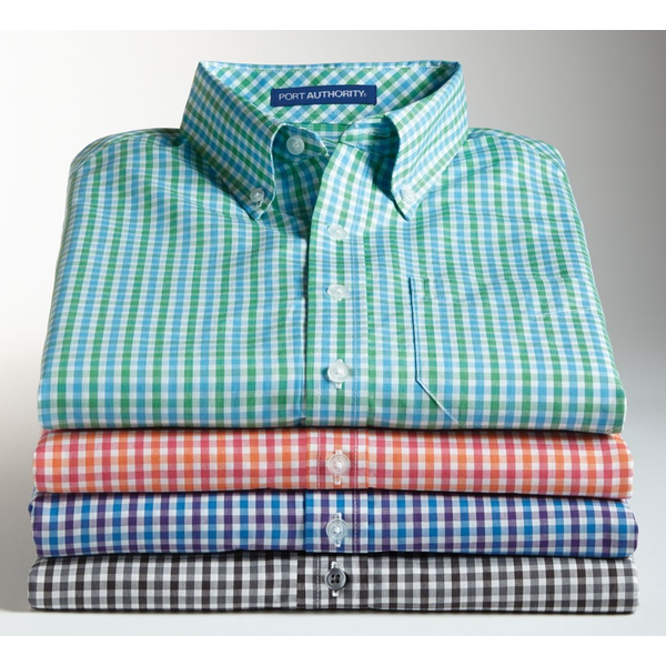 Port Authority® Gingham Easy Care Men's Short Sleeve Shirt