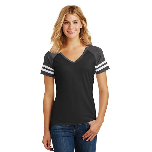 District Made® Game V-Neck Ladies' Tee