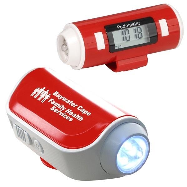 Walk Safe Pedometer with Flashlight & Siren