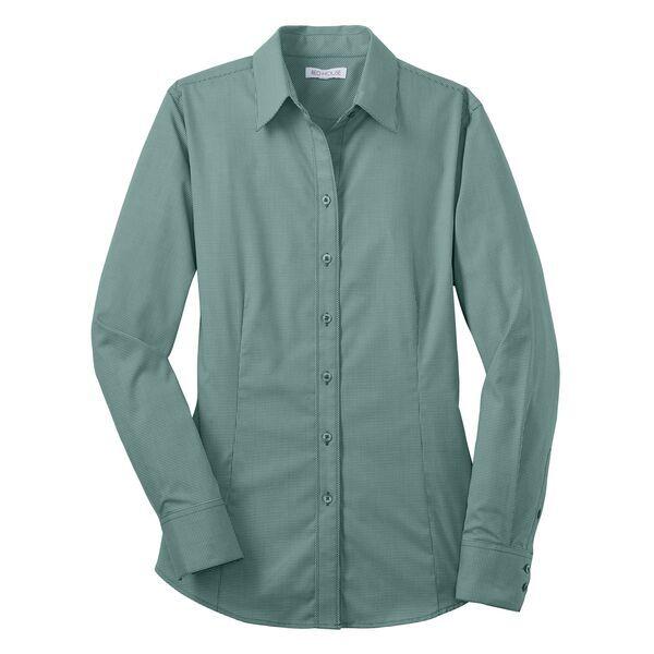 Red House® Mini-Check Non-Iron Cotton Ladies' Shirt