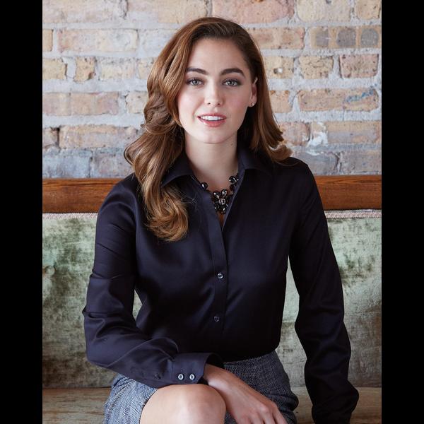 Calvin Klein® Non-Iron Micro Pincord Ladies' Shirt