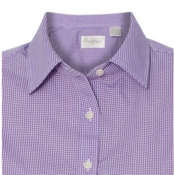 Van heusen non iron gingham check ladies 39 shirt for Van heusen iron free shirts