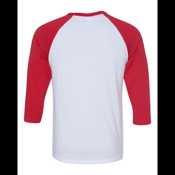 Bella + Canvas® Poly Cotton Unisex Baseball 3/4-Sleeve Tee
