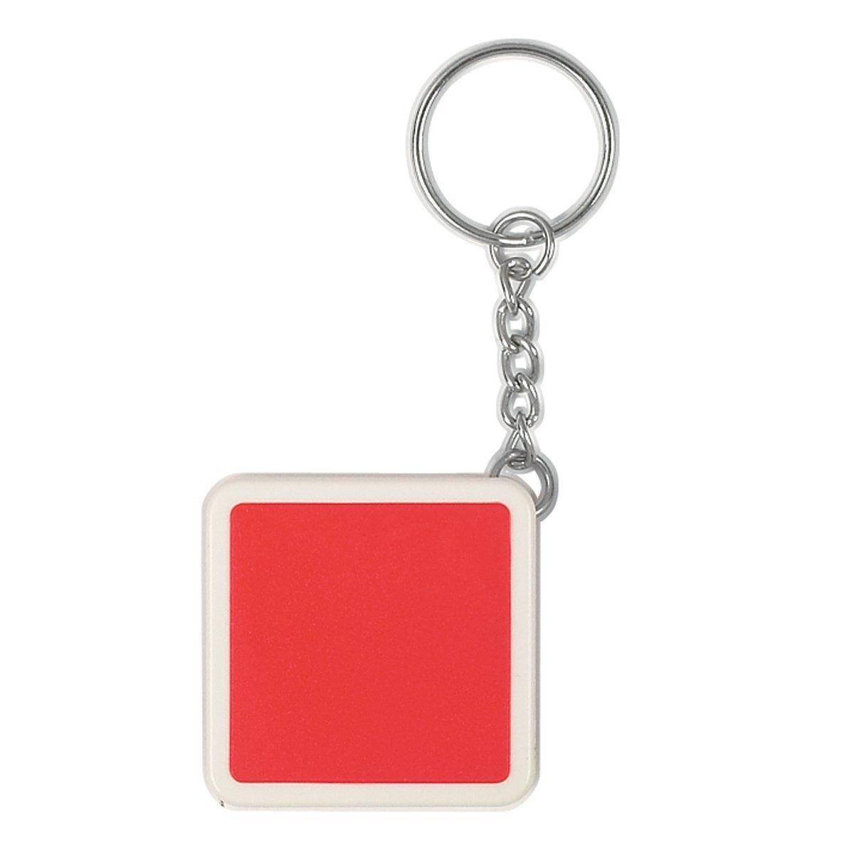 """Square Tape Measure Key Tag, 39"""""""
