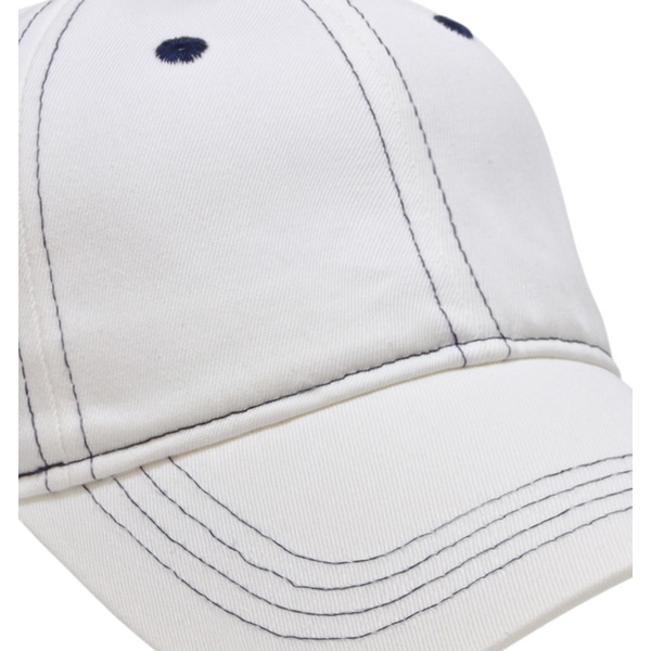 Classic Contrast Stitch Washed Chino Unconstructed Cap