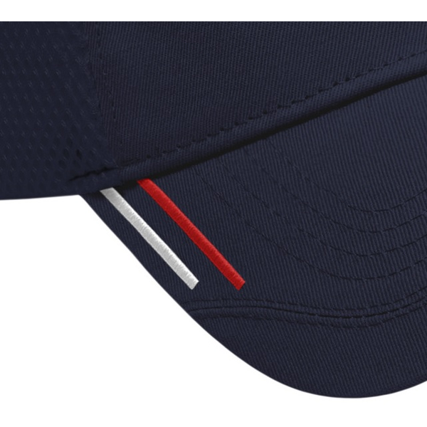 Accented Chino Constructed Cap with Mesh Back